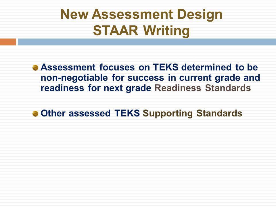 New Assessment Design STAAR Writing What next.