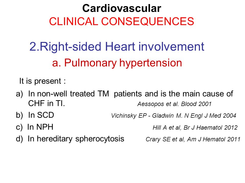 2.Right-sided Heart involvement a.
