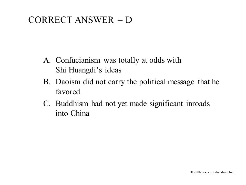 © 2006 Pearson Education, Inc.10.What resulted from the Zhang Qian expedition.