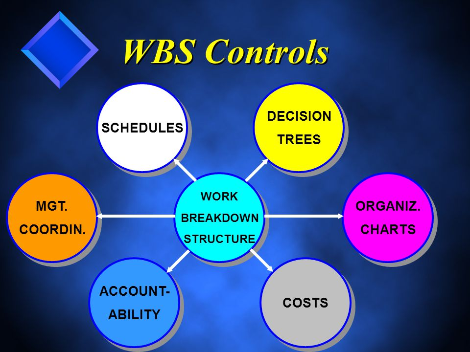 WBS Controls WORK BREAKDOWN STRUCTURE WORK BREAKDOWN STRUCTURE MGT.