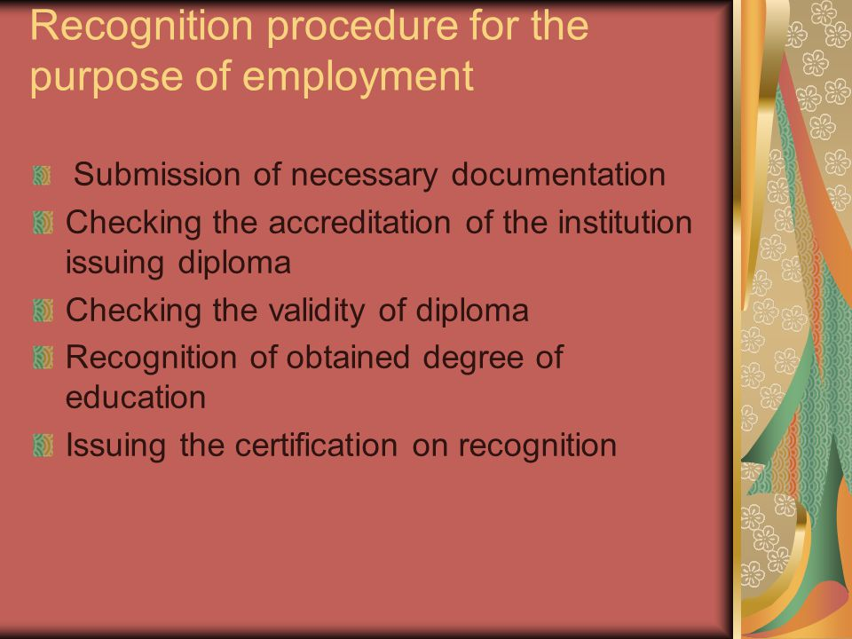 Challenges -Creation on New Law on Recognition of Professional Qualifications for the purpose of entering the labor market in Montenegro -Defining the list of regulated professions -Establishment of professional bodies responsible for issuing licenses for regulated professions