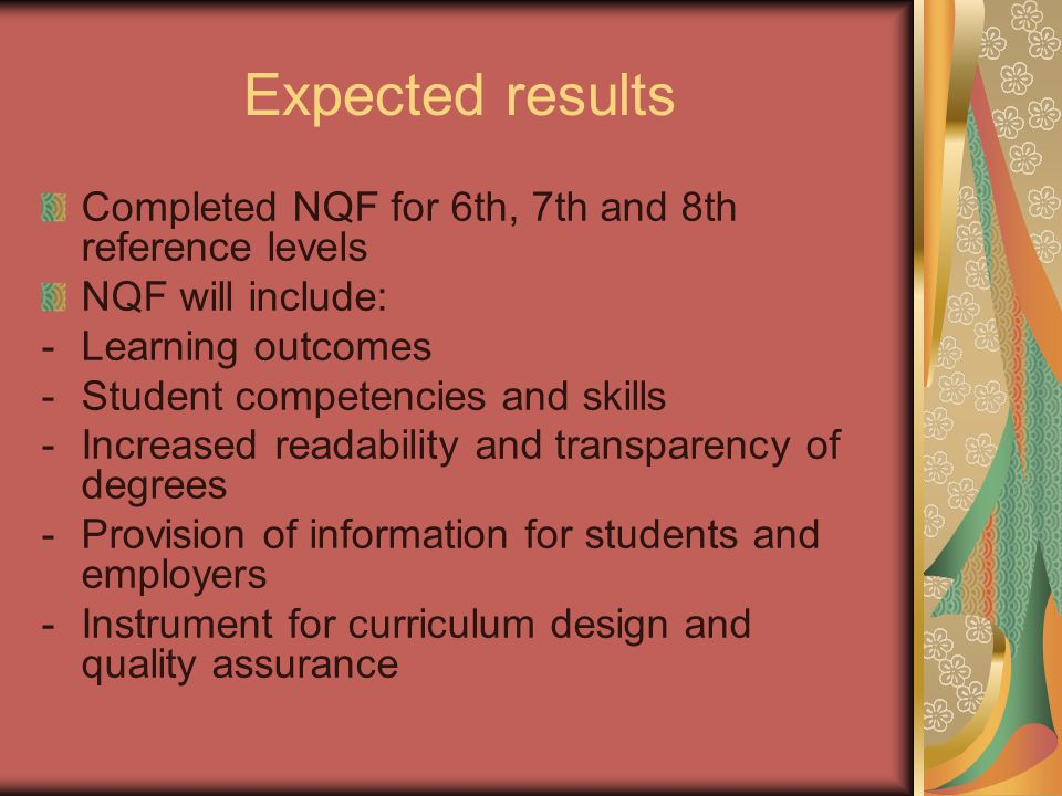 How many levels there should be n NQF of Montenegro The first four levels of qualifications include the qualifications acquired in the initial vocational/general education and training institutions.