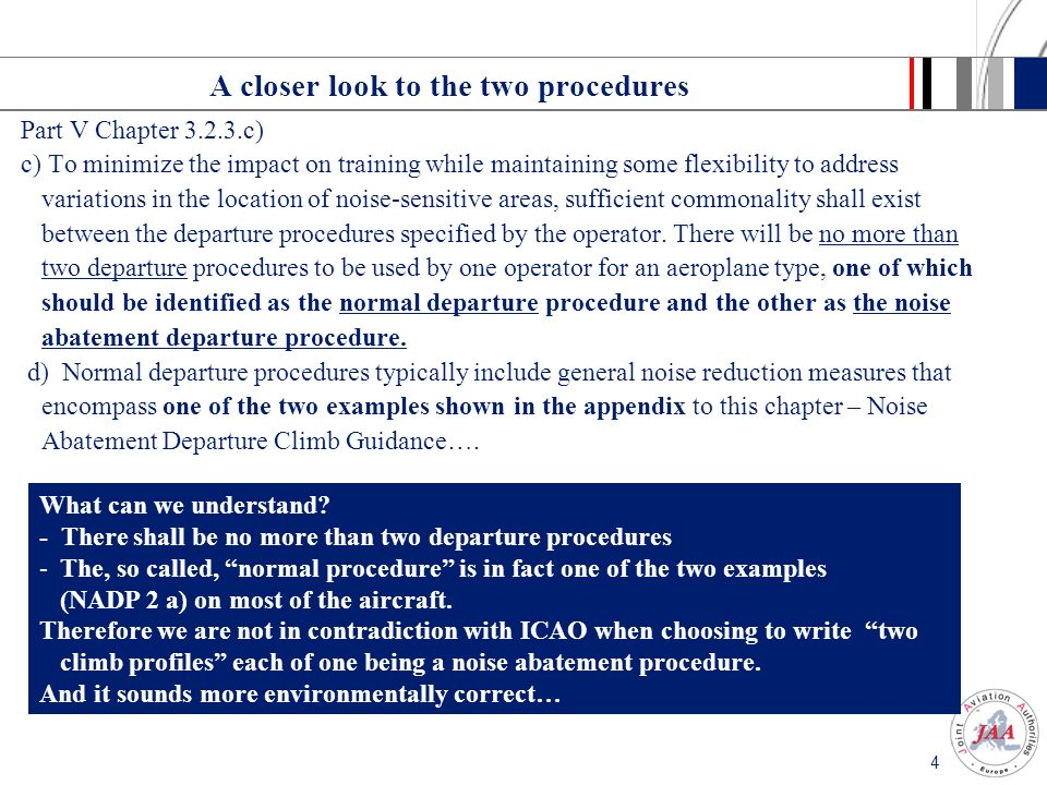 3 ICAO PANS OPS Volume 1 (Doc 8168-OPS/611) Part V Chapter 3.2.3.c) c) To minimize the impact on training while maintaining some flexibility to address variations in the location of noise-sensitive areas, sufficient commonality shall exist between the departure procedures specified by the operator.