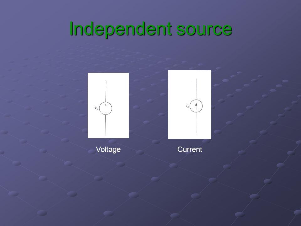 Independent source VoltageCurrent