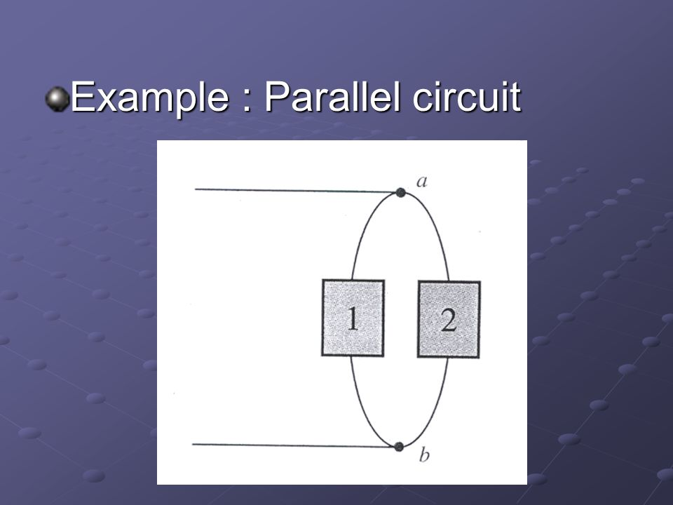 Example : Parallel circuit