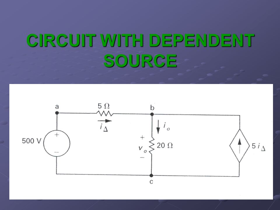 CIRCUIT WITH DEPENDENT SOURCE