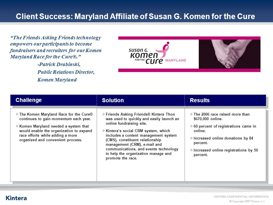 17 Client Success: Maryland Affiliate of Susan G.