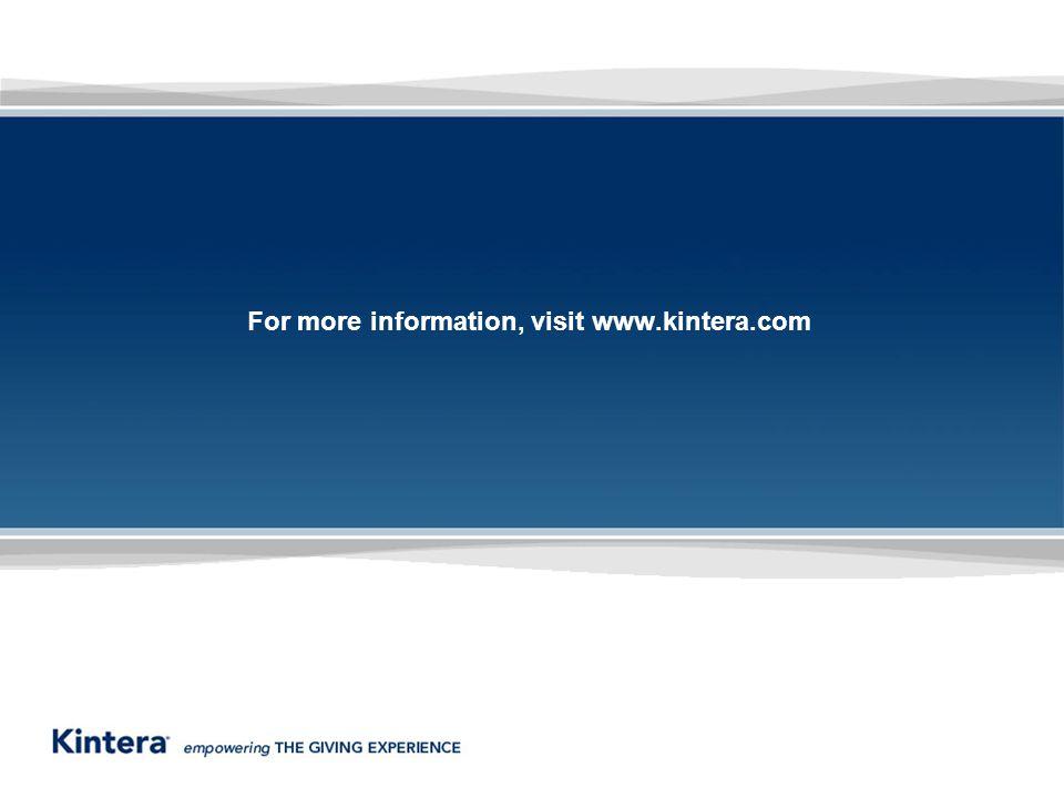 For more information, visit www.kintera.com