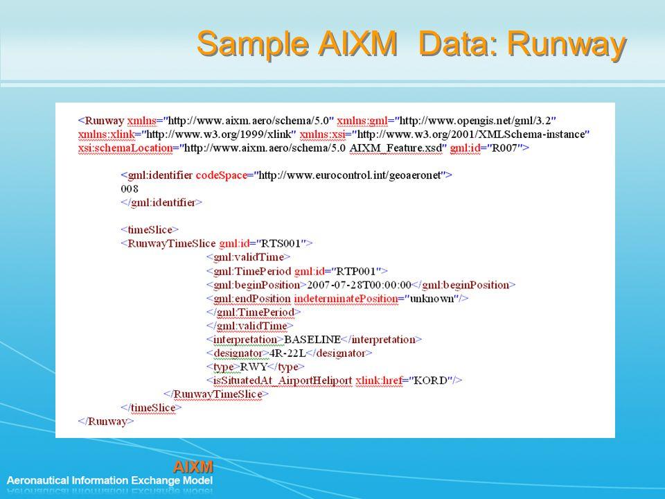 Sample AIXM Data: Runway