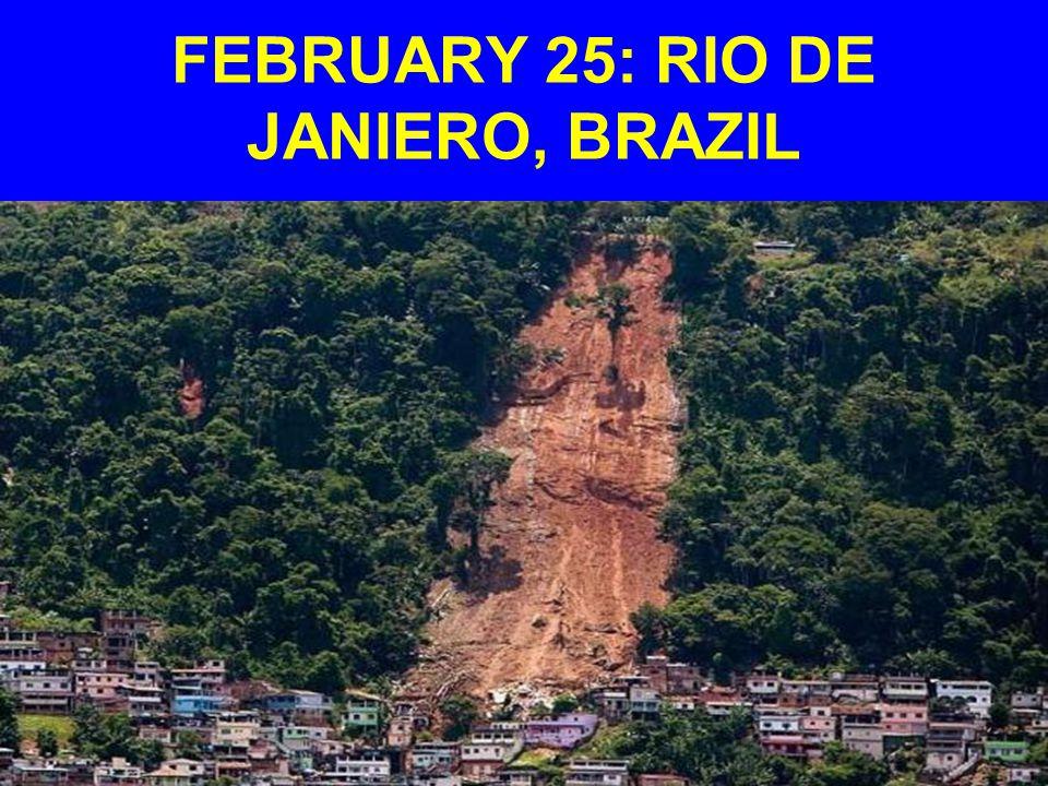 FEBRUARY 25: RIO DE JANIERO, BRAZIL
