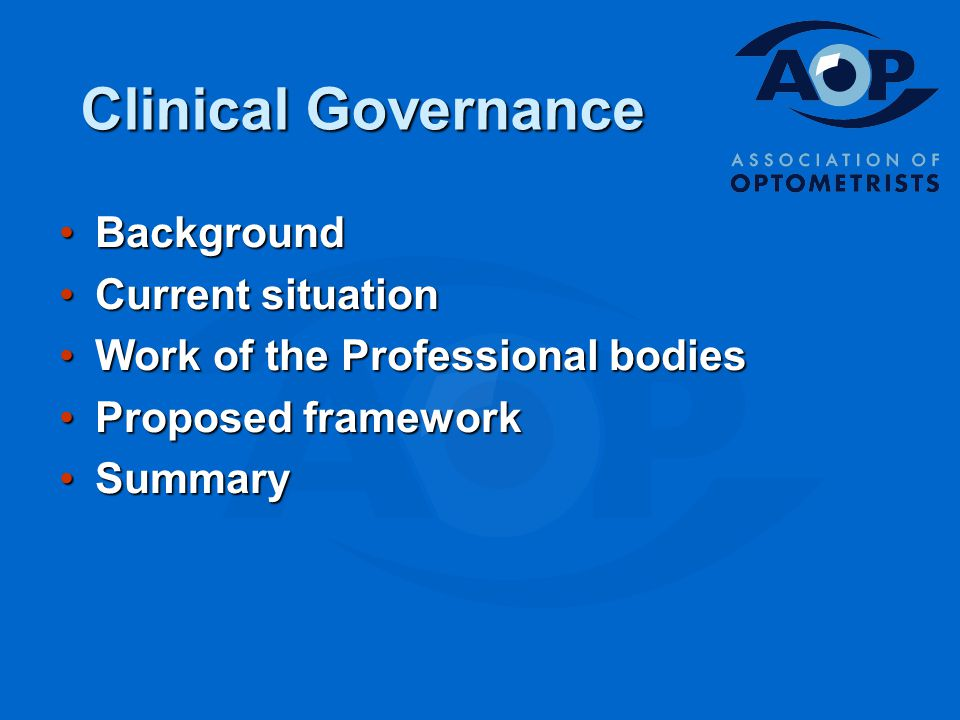 BackgroundBackground Current situationCurrent situation Work of the Professional bodiesWork of the Professional bodies Proposed frameworkProposed framework SummarySummary