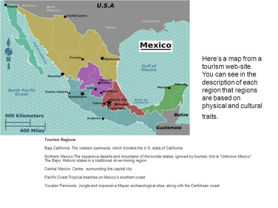 Regionalization of Mexico Geographers utilize regions to simplify