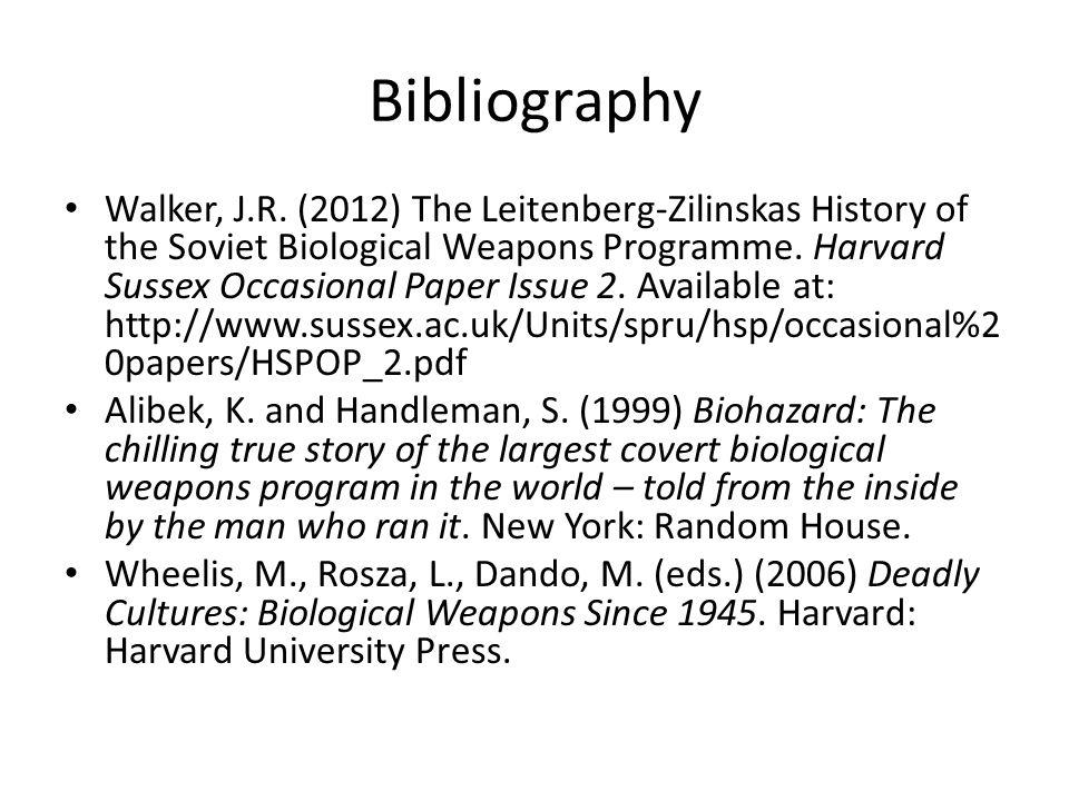 Bibliography Walker, J.R.