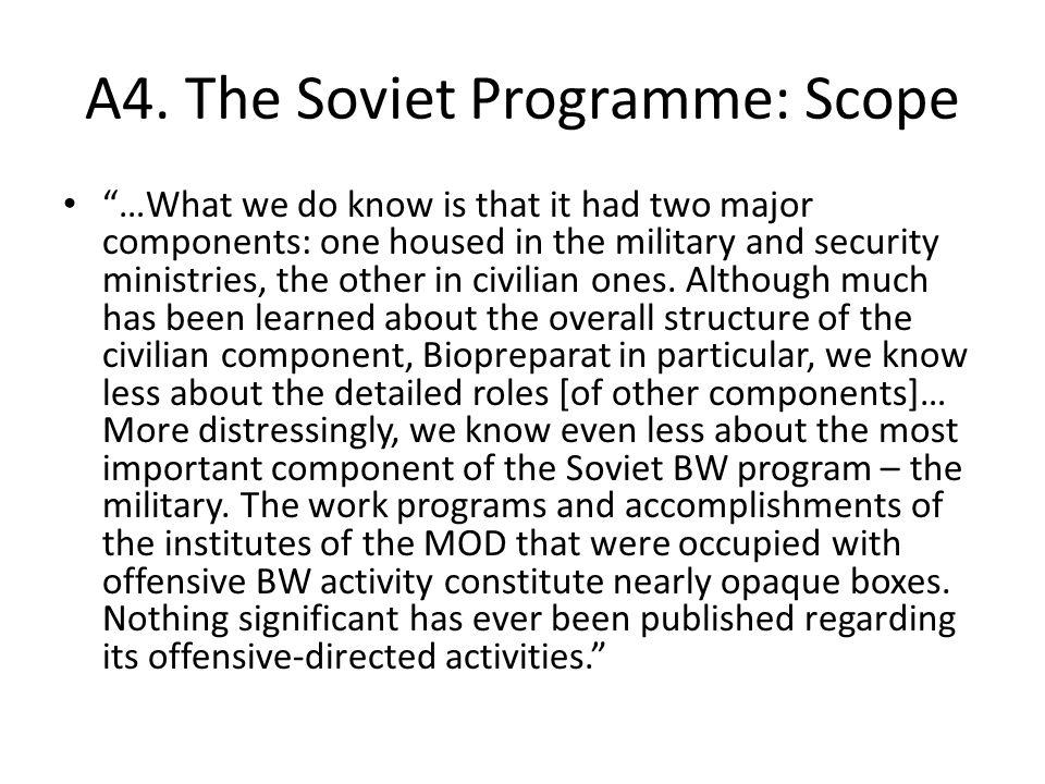 A5.The Soviet Programme: Factor Factor.
