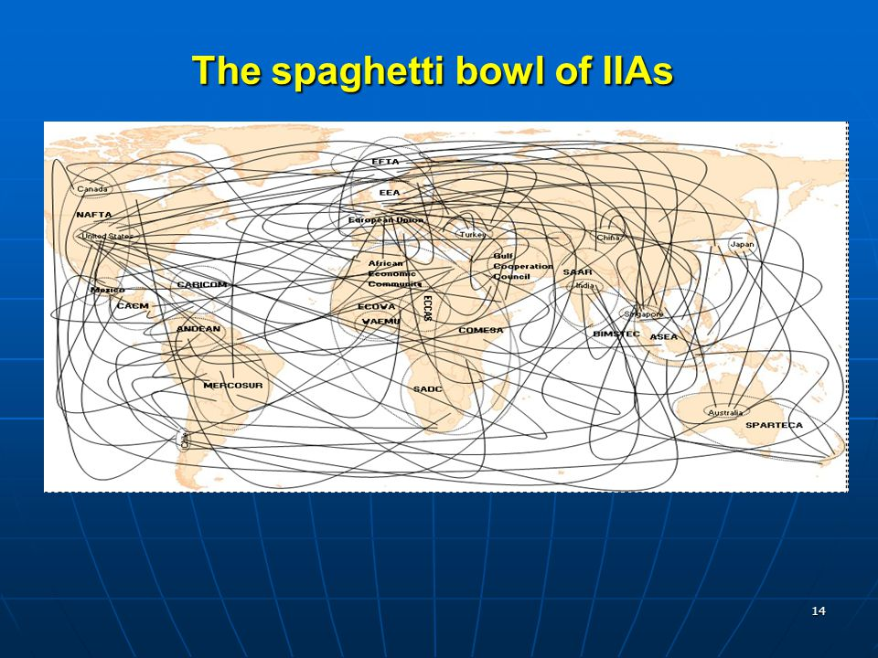 14 The spaghetti bowl of IIAs
