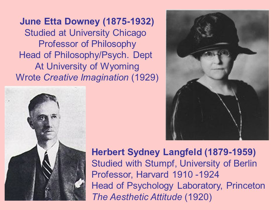 June Etta Downey (1875-1932) Studied at University Chicago Professor of Philosophy Head of Philosophy/Psych.