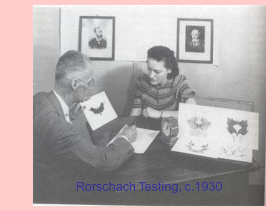 Rorschach Testing, c.1930