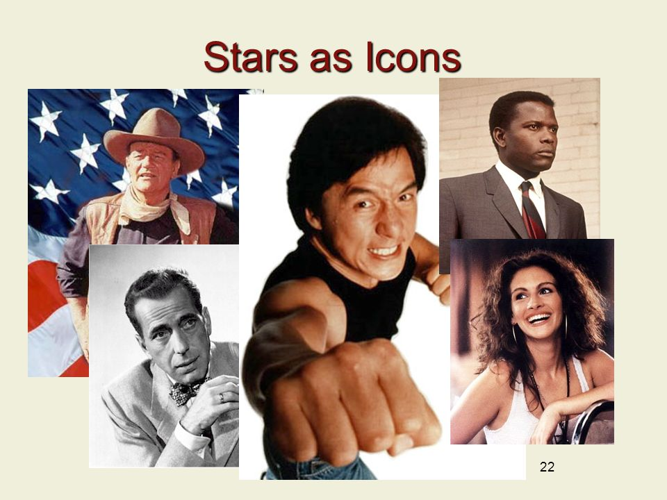 22 Stars as Icons