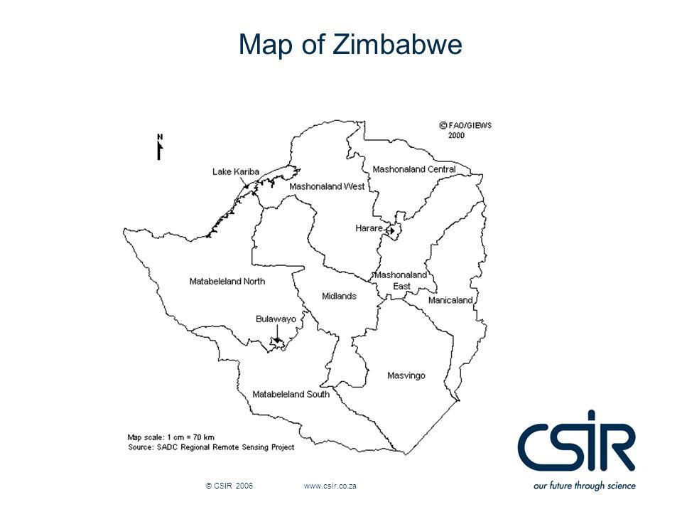 © CSIR 2006 www.csir.co.za Map of Zimbabwe