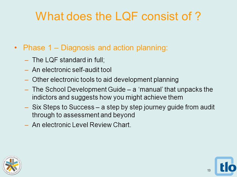 What does the LQF consist of .