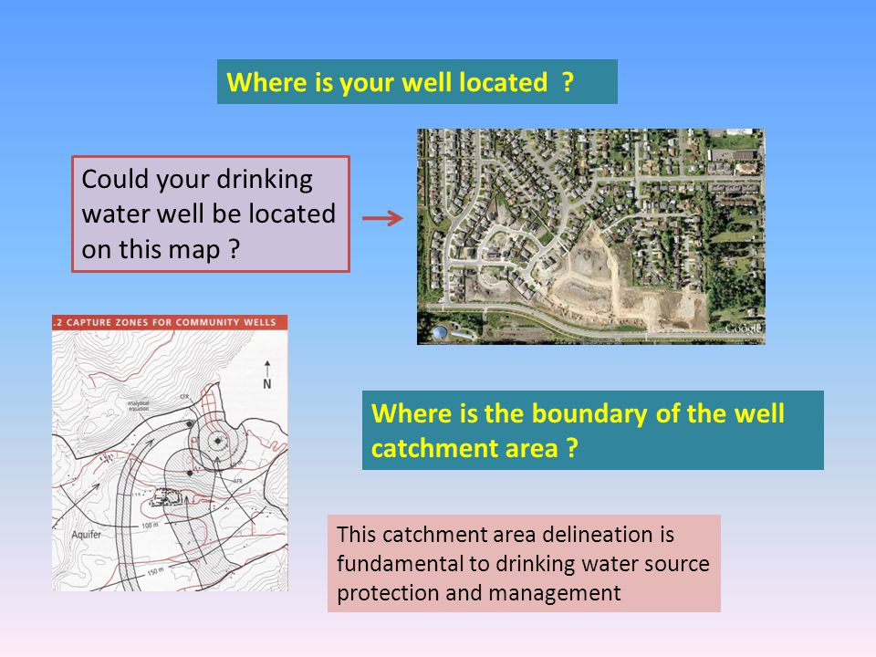 Where is your well located . Could your drinking water well be located on this map .