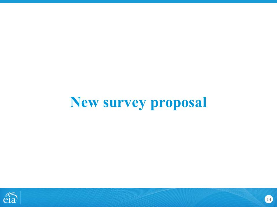 New survey proposal 14