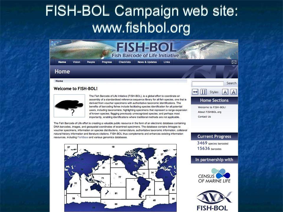 FISH-BOL Campaign web site: www.fishbol.org