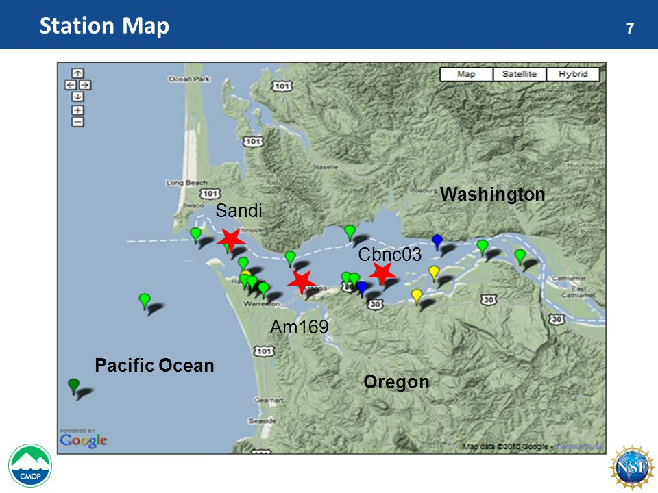 7 Station Map Washington Oregon Pacific Ocean Sandi Am169 Cbnc03