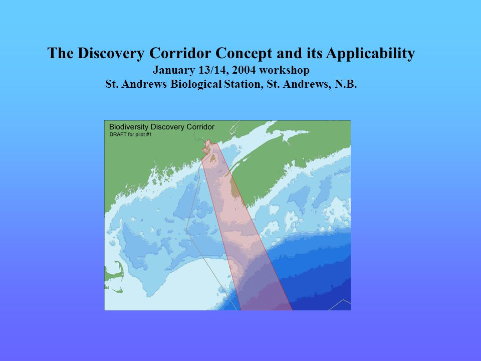 The Discovery Corridor Concept and its Applicability January 13/14, 2004 workshop St.