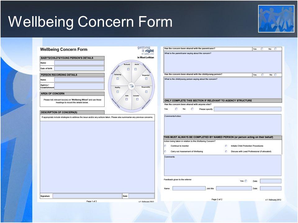 Wellbeing Concern Form