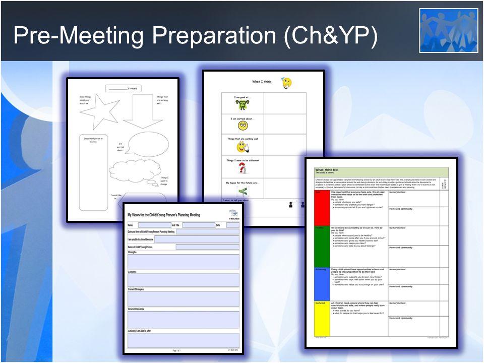 Pre-Meeting Preparation (Ch&YP)