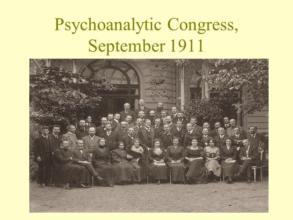 Psychoanalytic Congress, September 1911