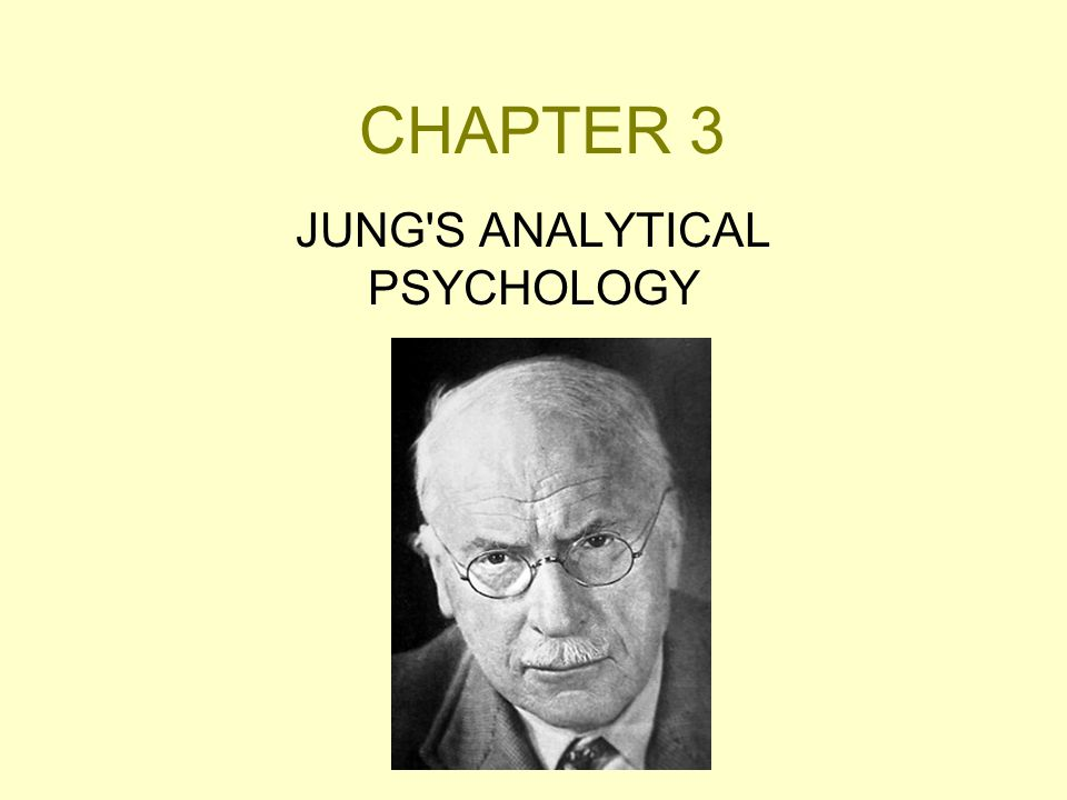 CHAPTER 3 JUNG'S ANALYTICAL PSYCHOLOGY
