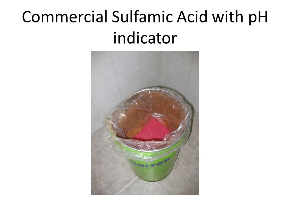 Commercial Sulfamic Acid with pH indicator