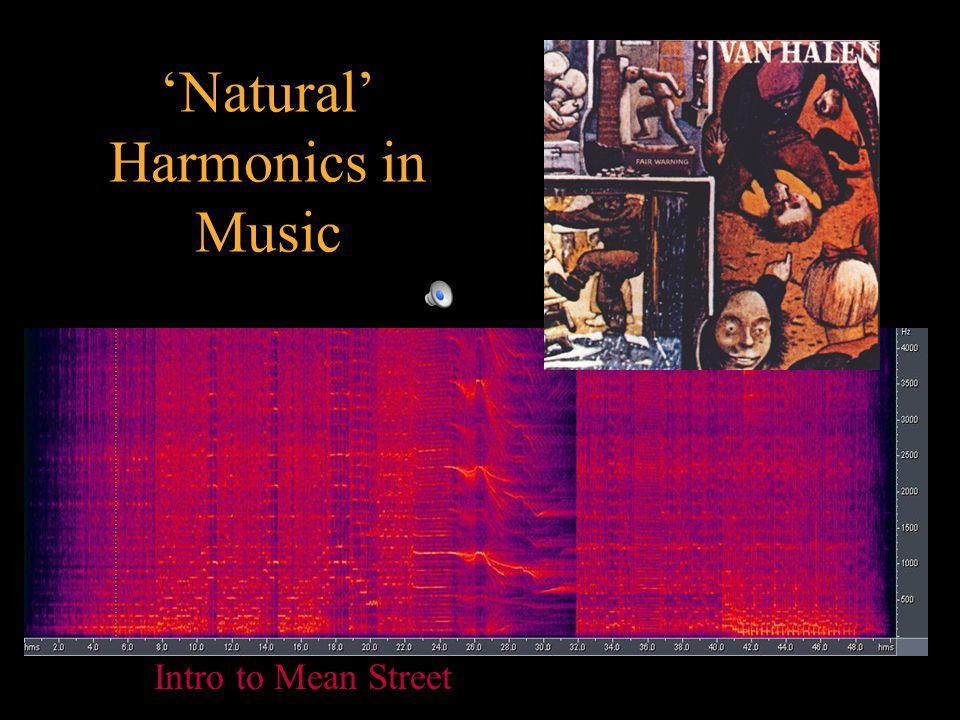 'Natural' Harmonics in Music Intro to Mean Street