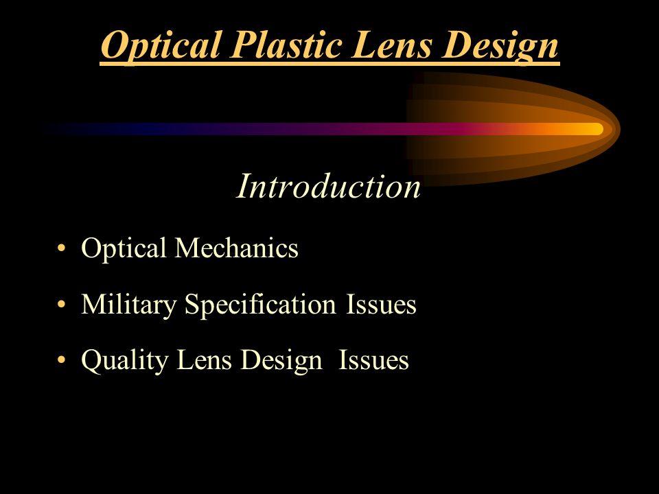Optical Mechanics Distortion Resolution Prism Correction Optical Power