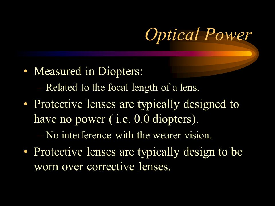 Military Lens Specifications Specification Issues: –Optics must be design at the start of the project.
