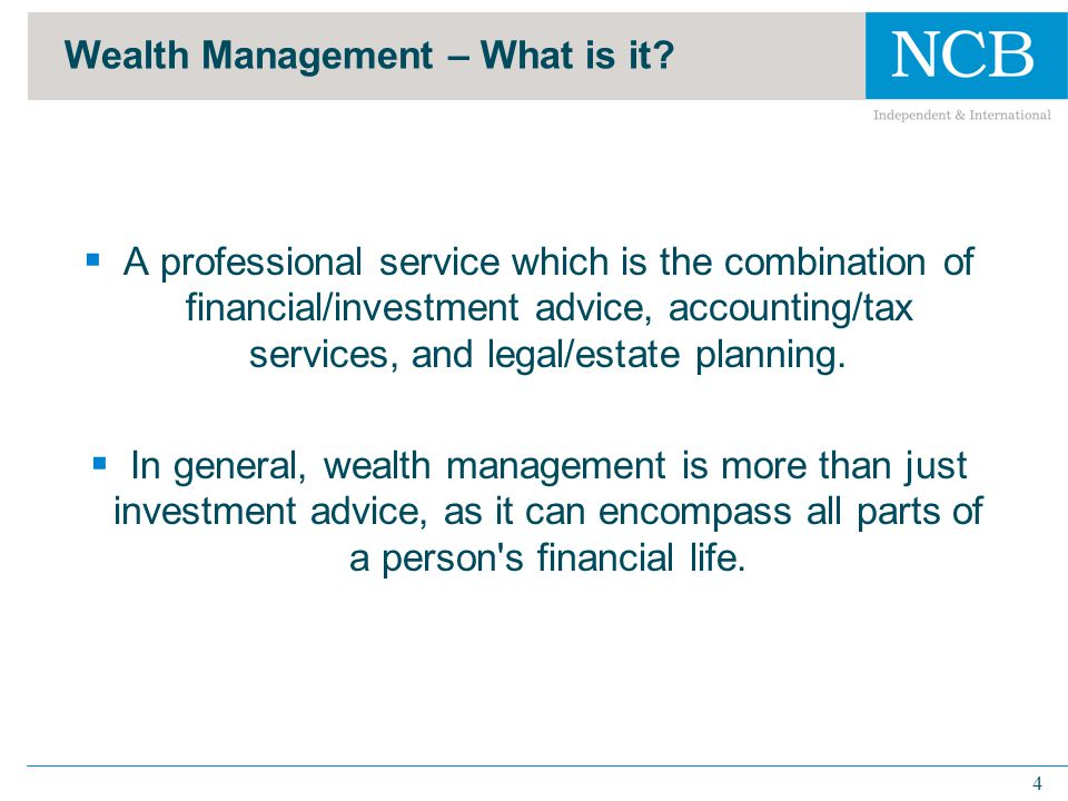 5 Wealth Management – What is it.
