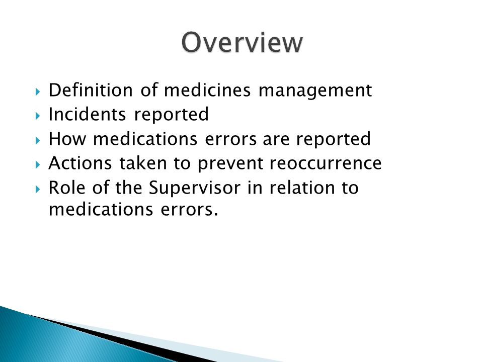  The administration of a medicine is a common but important clinical procedure.