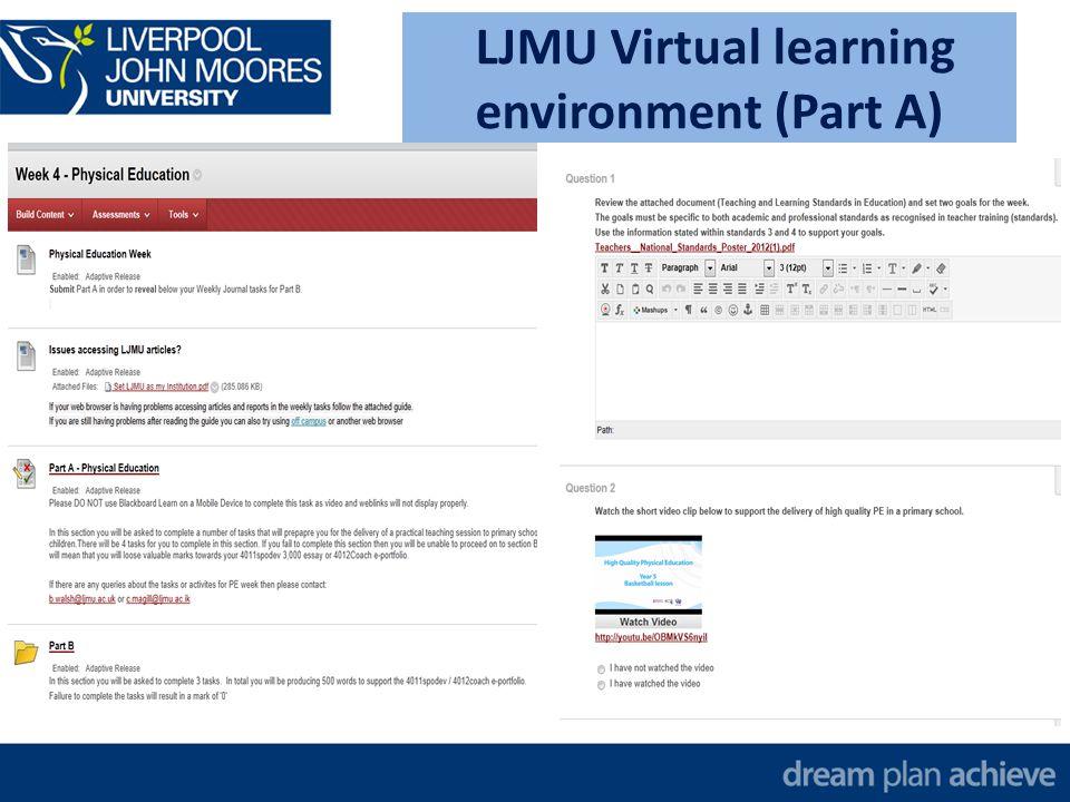 LJMU Virtual learning environment (Part B)