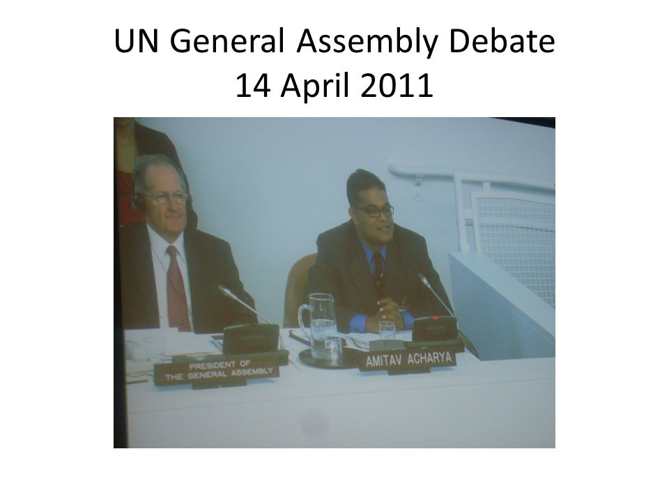 UN General Assembly Debate 14 April 2011
