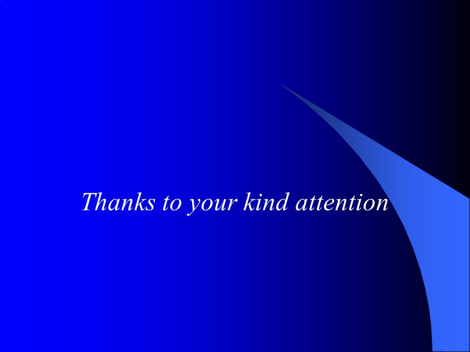 Thanks to your kind attention