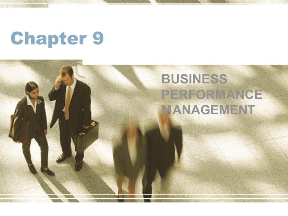 Chapter 9 BUSINESS PERFORMANCE MANAGEMENT