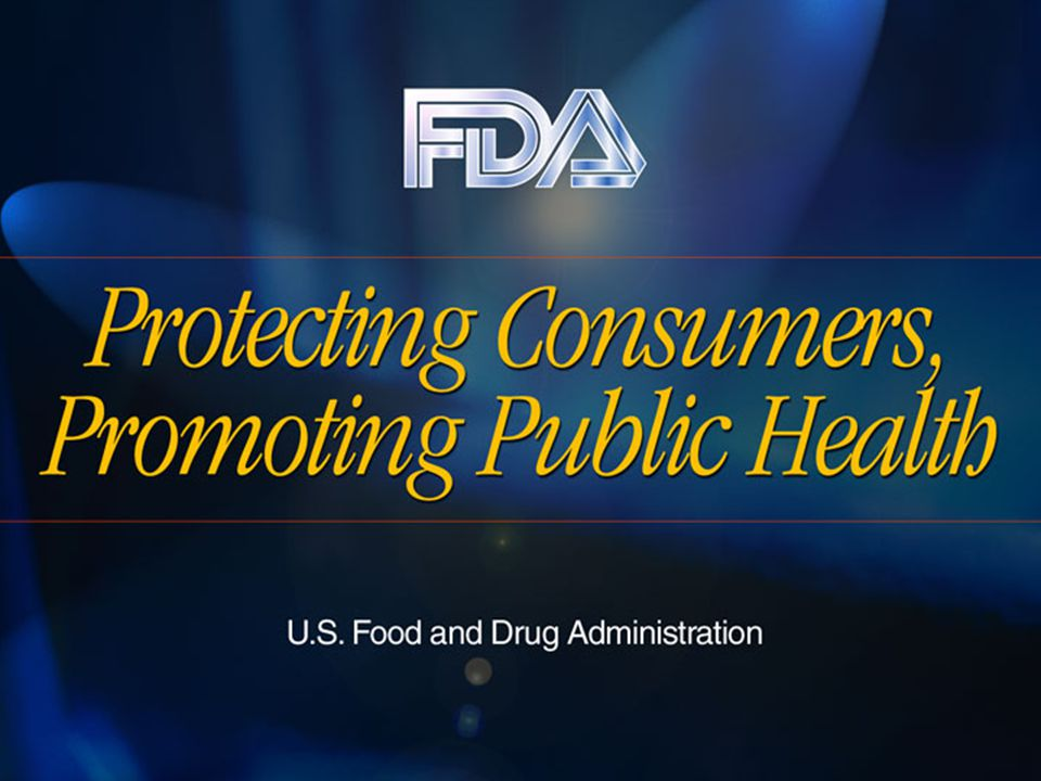 ALERT: The Basics Food and Drug Administration Center for Food Safety and Applied Nutrition