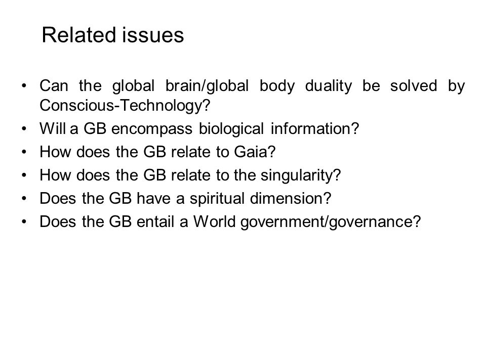 What benefits to expect from the GB.How can the GB tackle information overload.