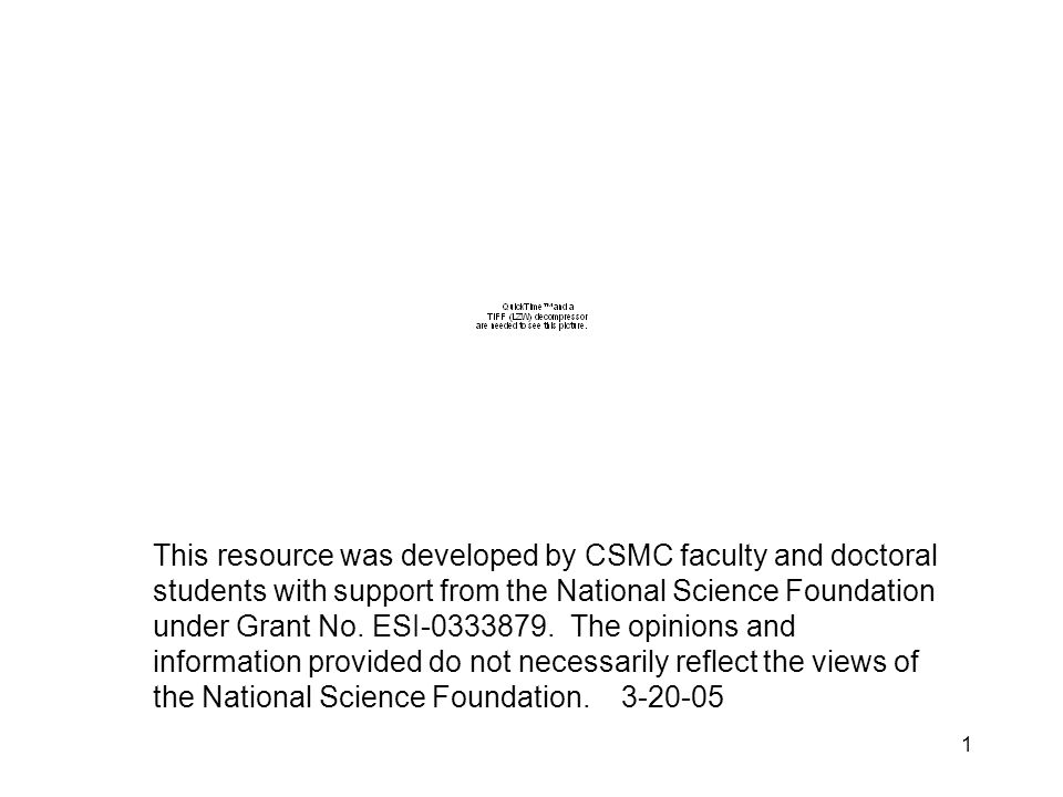 1 This resource was developed by CSMC faculty and doctoral students with support from the National Science Foundation under Grant No.