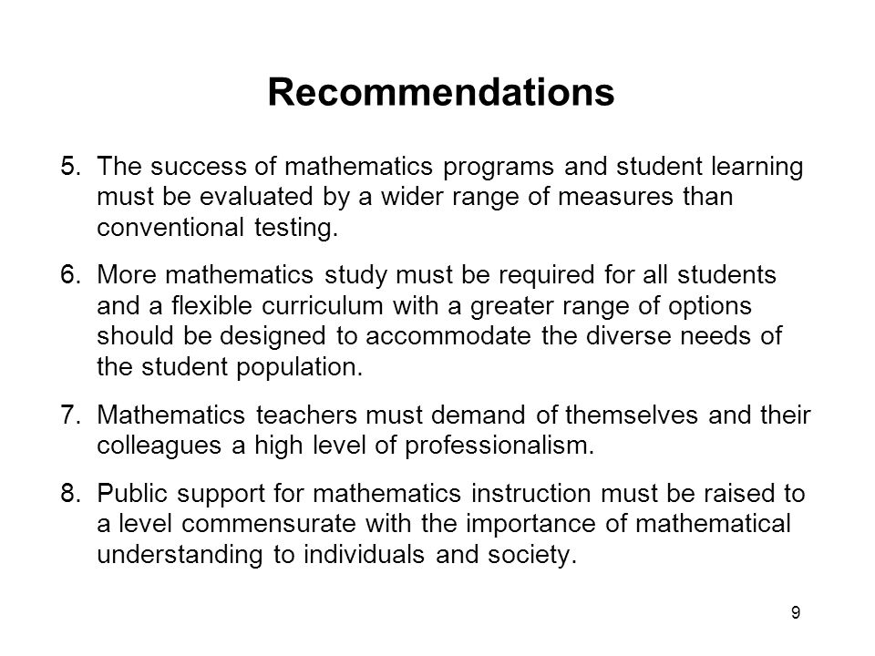 20 Significance and Impact NCTM took on a stronger role as an advocate on issues in mathematics education and that role continued.