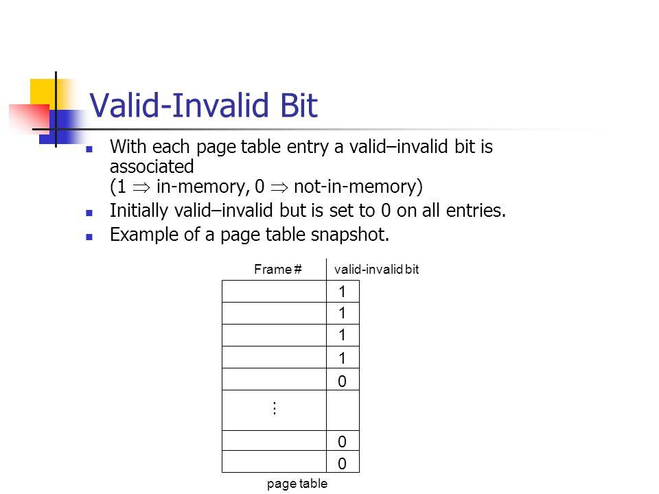 Page-Fault Frequency Scheme Establish acceptable page-fault rate.