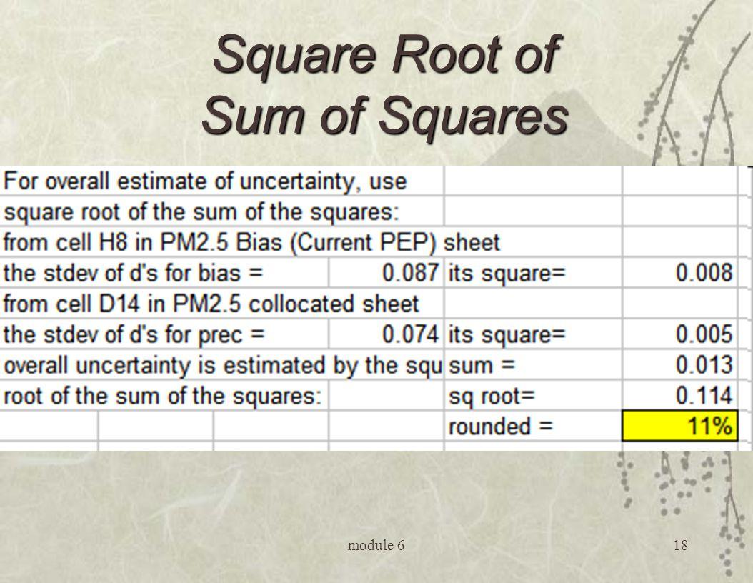 module 618 Square Root of Sum of Squares