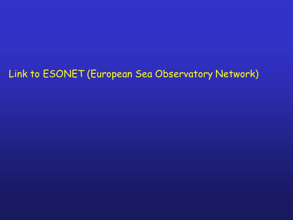 Link to ESONET (European Sea Observatory Network)